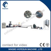 Professional PP,PE film and bag waste plastic recycling machine pelletizing machine