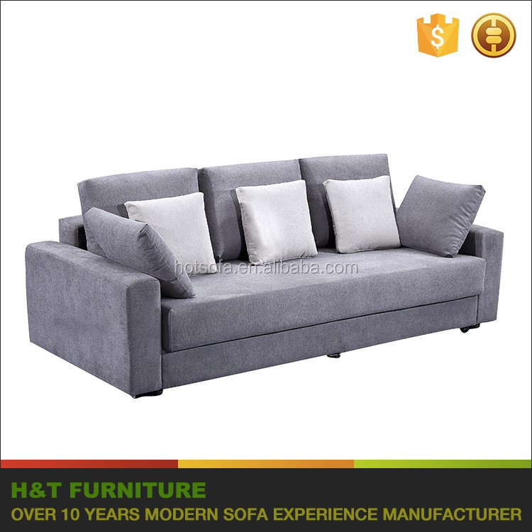 Cheap Sofa Cum Bed Wooden Designs Fabric Sofa Bed 3 Seater With Wheel F613