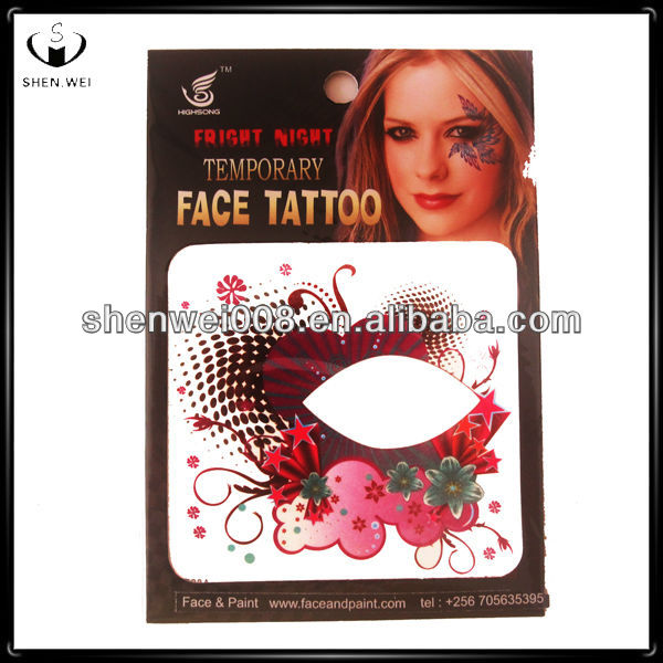 temporary mask full face tattoo