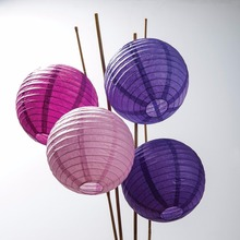 Chinese Round Party Paper Lantern Lamps with Led Lights