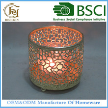 Beautiful & Elegant Tealight Holder Unique Gift Ideas Decorative Metal Votive Tealight Candle Holder Cut Out Pattern