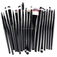 Factory sales 20pcs Foundation/Concealer/Eyebrow/Eyeshadow/Blending Eyes cosmetic brush set