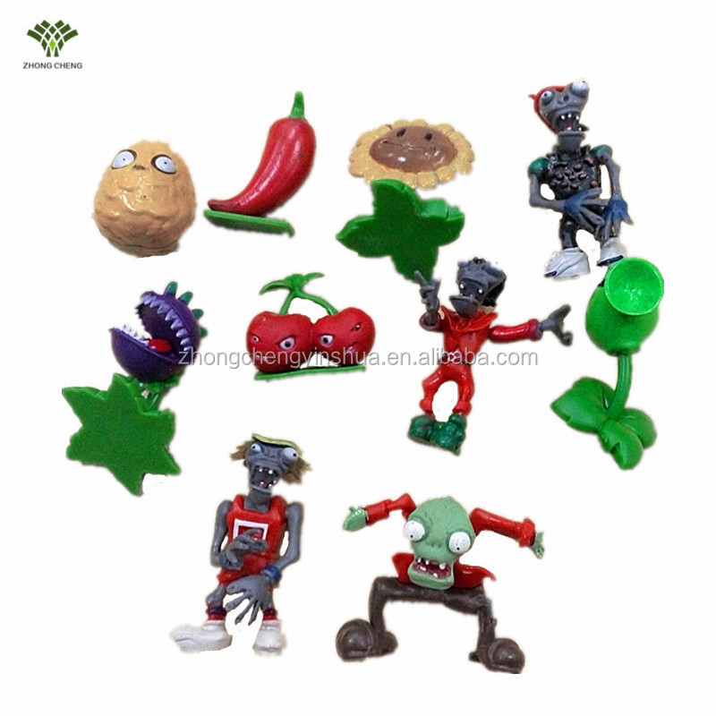Plants vs zombies plastic cake decorating toys for birthday plastic cake toys 10 PCS