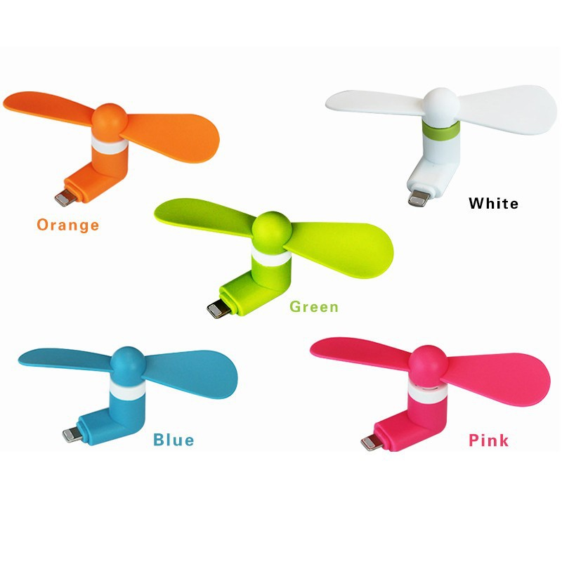 Factory price ceiling fan mini OTG usb table pocket fan cooling mini fan for iPhone and android