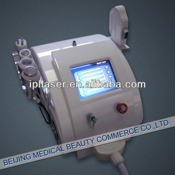 multifunctional beauty/multi e-light ipl rf laser and vacuum cavitation
