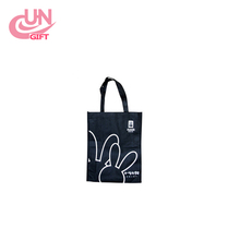 Custom Logo Simple Color Creative Design Cheap Price Non-woven Reusable Polyester Tote Shopping Bags/Cloth Bags