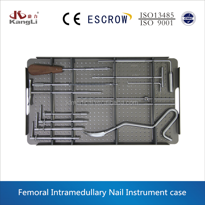 The sterilization femoral instrument box with factory price and high quality