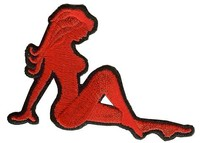 beautiful sex girl badge accessories for dress red sexy patch