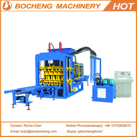 Automatic Hydraulic Cement Hollow Block Making Machine QT6-15 Interlocking Brick Machine