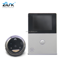 Battery operated built-in TF card 720P peephole door eye camera wireless ip video door phone