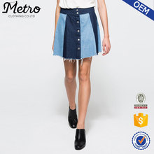 Custom OEM Women Sexy Twill Cotton Denim Girl Mini Skirt
