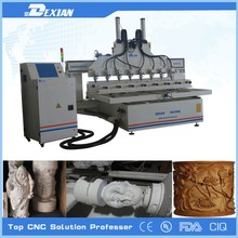 3d cnc milling machine / 3d cnc router / 8 axis cnc router for wooden furniture legs