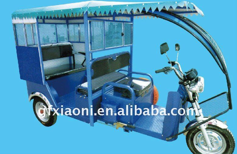 60V 1100W three wheel five seat electric tricycle