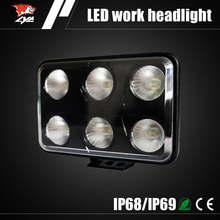 "Wholesale 8"" 60w led day time running light for truck tractor ombine harvester automotive ship led head light"