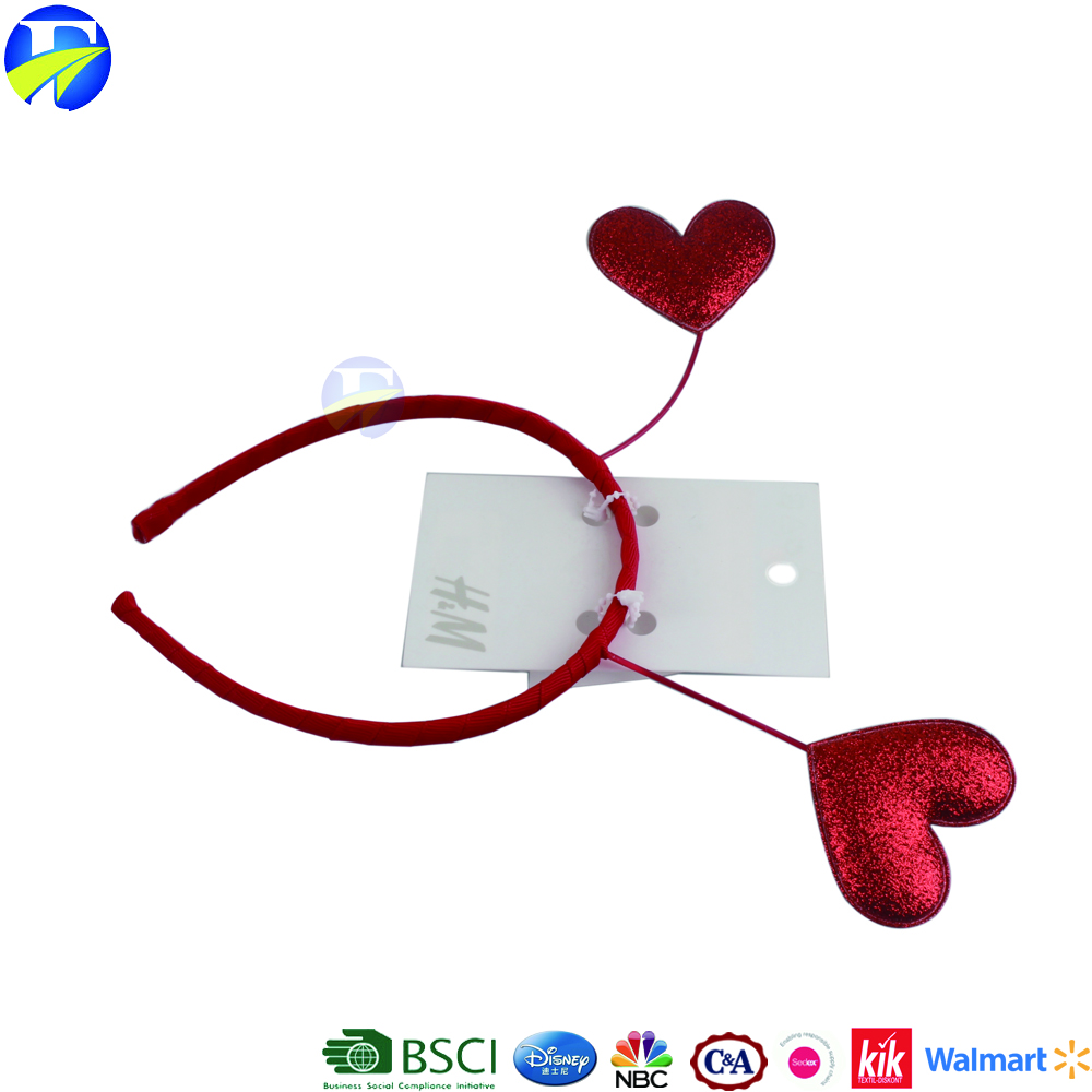 FJ hot selling baby accessories 2017 girls heart head band