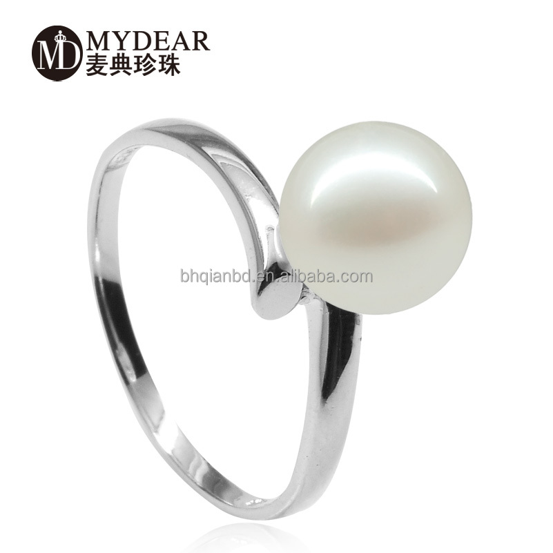 Top quality freshwater pearl rings, latest finger rig design for women