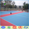 Outdoor interlocking plastic volleyball court flooring