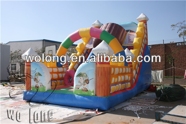 new design dragon knight inflatable slide