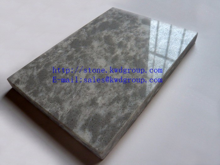 Anti Dust bathroom white veins grey quartz stone
