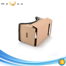 Top selling cardboard VR box for virtual reality google hot videos