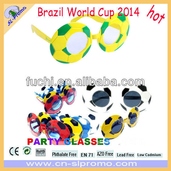 World Cup 2014 Sunglasses Brazil Flag Football Sunglasses Football Fan Sunglasses