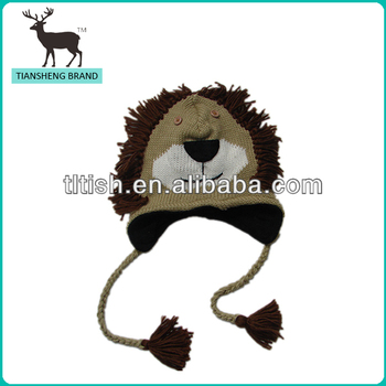 new design china wholesale lion hat knitted