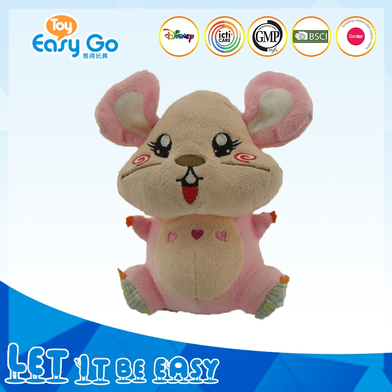 Cute Pink Stuffed Mouse toy For Kids