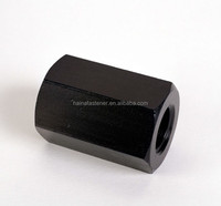 high strength steel black and zinc plated hex long nut DIN6334