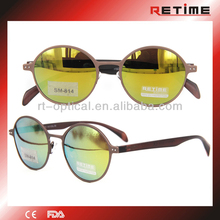 2014 New Style Hot Selling Retro Round Metal Sunglasses With Mirror (SM-814)