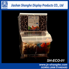 Clear Plastic bulk food/candy bin for retail store