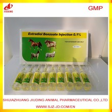 Estradiol benzoate injection 0.2% for veterinary