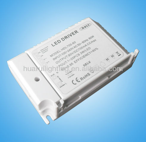 ac 220v driver ETL/UL Dimmable 60W led power supply led transformer for high power constant current 12V Mr16 lamp strip light