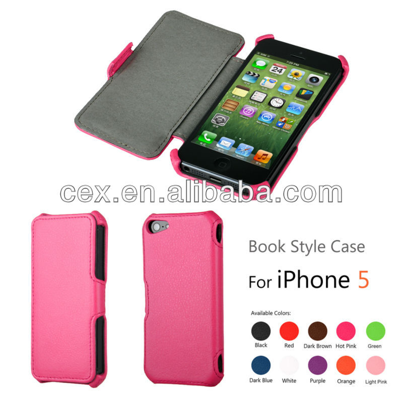 For Apple iPhone 5 5s Book Style Wallet Stand Phone Protector Cover Case Black