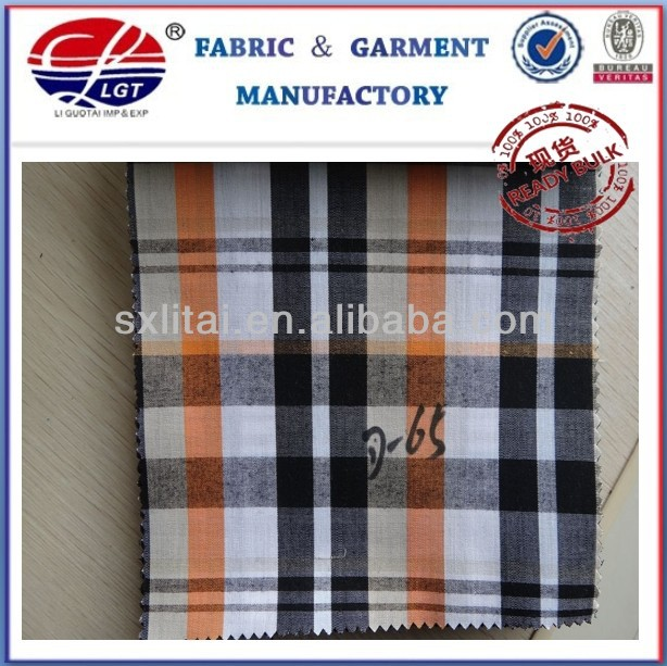 100%cotton 50s gingham check and stripe fabric
