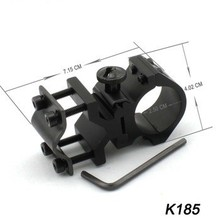 Brinyte K185 25mm Flashlight Holder 1.0 inch Mount for Flashlight and laser sight on to the rifle barrel or weaver rail
