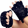 Best selling safety men military tactical leather gloves without finger