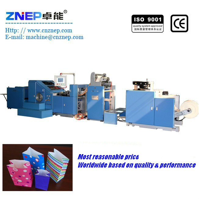 ZD-F190 Roll Fed Square Bottom Paper Folding Machine Processing Type