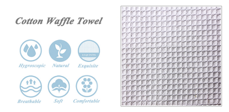 Made in china waffle weave cotton kitchen towels best selling