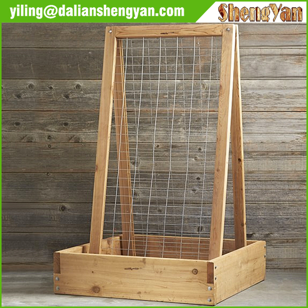 Garden Decoration Wood Grow Bed with Frame Trellis