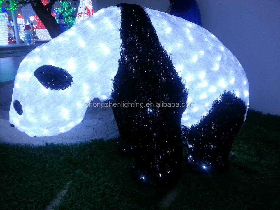 New 3D christmas panda animal light