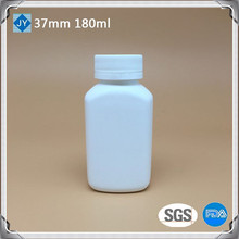 180cc pharmaceutical used bottle medicine 180ml 6oz HDPE square plastic bottel for protein power