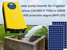 15KW 3 phase 380V, 50/60hz solar pump inverter with MPPT and variable speed drive for PV system