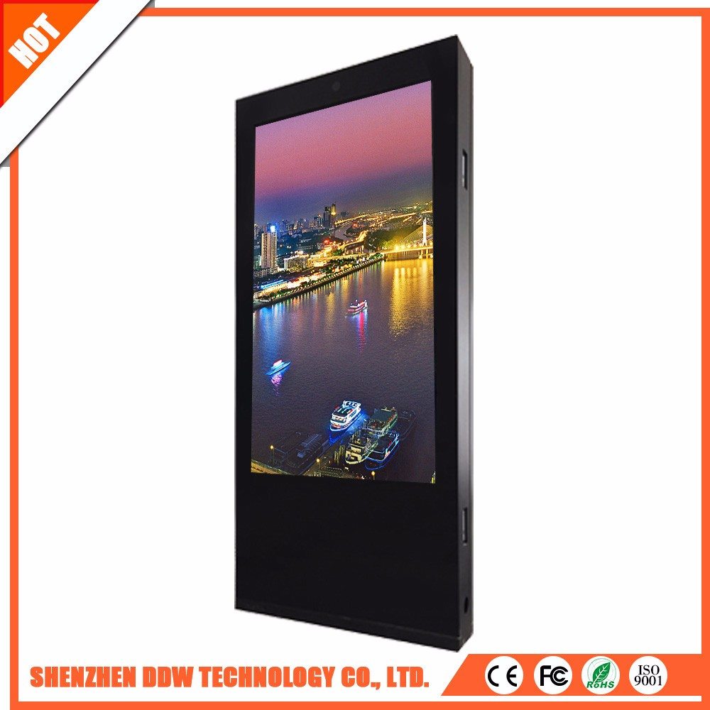 2017 new digital signage tv touch screen for lcd monitor double side outdoor