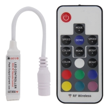 Mini 17 Keys RGB LED Controller with RF Wireless Remote Control for RGB LED Light Strip