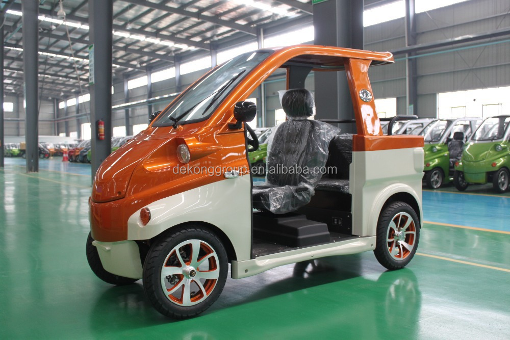 low speed low cost used electric golf car solar car mini electric golf carts