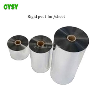 0.2-0.8mm semi-rigid plastic pvc sheet rolls for hermoforming package
