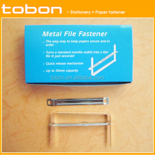 Factory direct 80mm metal paper fastener filing clips metal paper fasteners