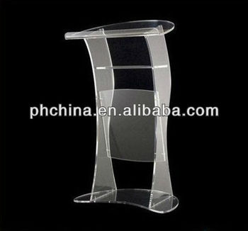 Clear Acrylic Lectern Hot Sell/Modern Design Clear Perspex Acrylic Rostrum Lectern Podium