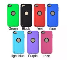 2 in 1 silicone plus plastic robot case for apple touch 6 case with competitive price