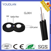 Lszh Sheath FTTH Indoor 2 Core Fiber Optic Drop Cable (GJXH)